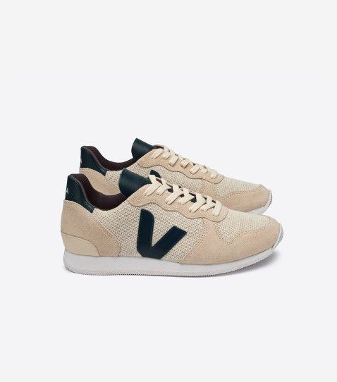 Basket Veja Holiday low en toile de coton biologique, cuir tanné sans chrome
