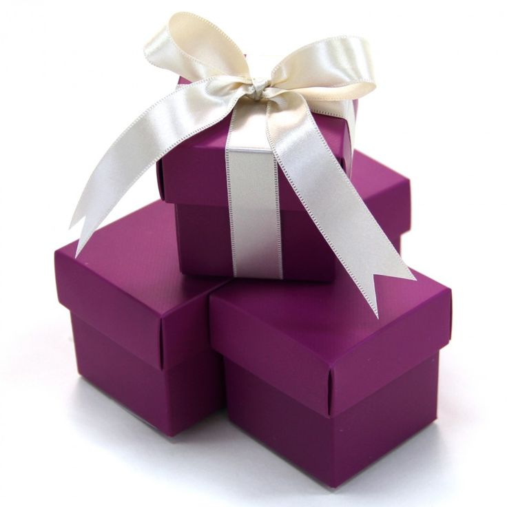 2 pc favor boxes 2x2x2 plum purple 403508 2pc favor box plum purple gift boxes wholesalewedding supplieswedding