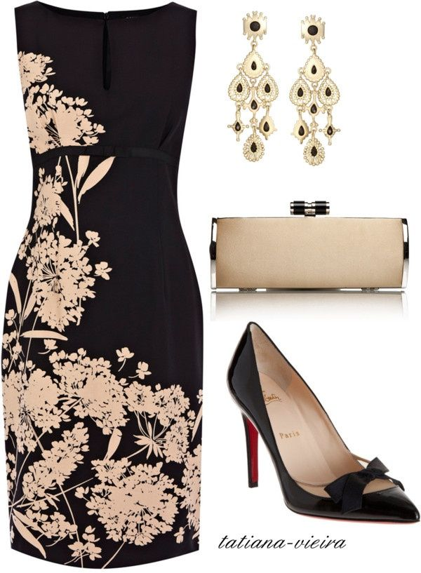 black and white floral print sheath