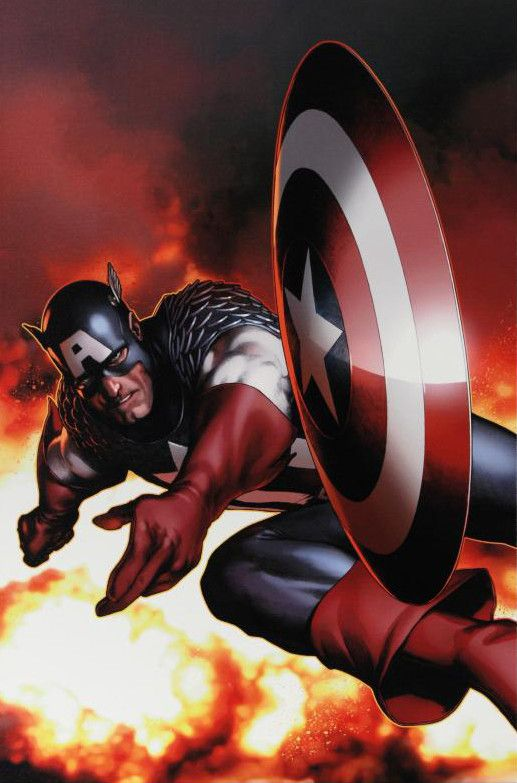 Captain America #2 - Limited Edition Giclee on Stretched Canvas by Steve McNiven and Marvel Comics