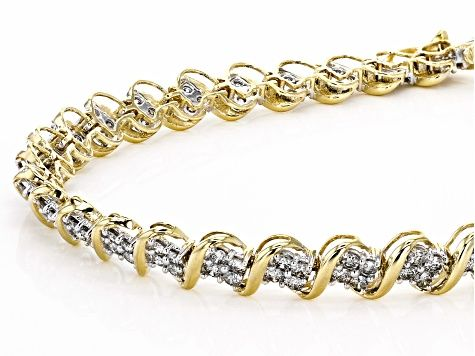 Diamond 10k Yellow Gold Bracelet 4 00ctw Cdg343 In 2020 Gold Bracelet Yellow Gold Bracelet Gold