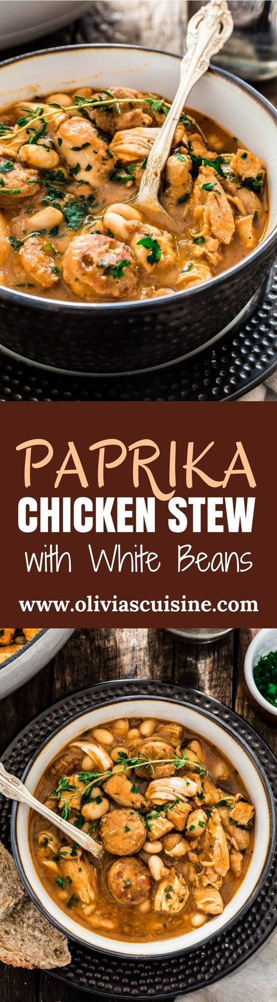 Brazilian Paprika Chicken Stew | http://www.oliviascuisine.com | A hearty and comforting Brazilian Paprika Chicken Stew is possibly one of the best ways to warm up this fall/winter. It is also very easy to make and done in one pot!