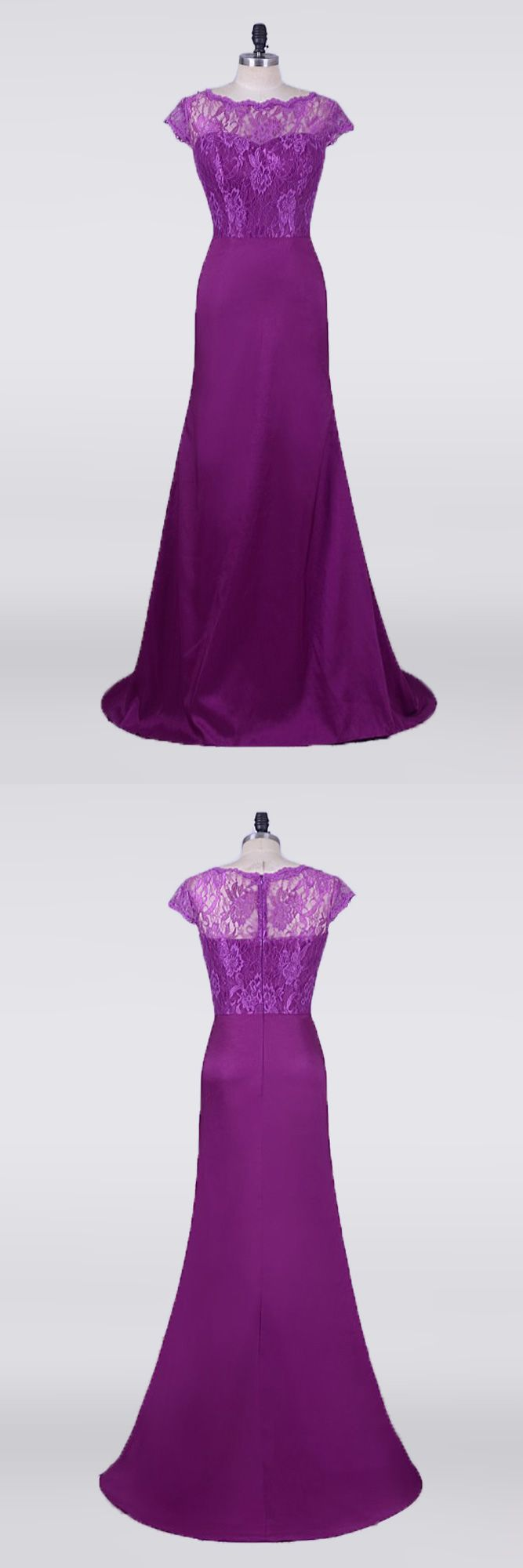 Only $148.99, Mother of the Bride Dresses Purple Petite Mermaid Mother Of The Bride Dresses With Modest Lace Cap Sleeves #E7952 at #GemGrace. View more special Bridal Party Dresses,Mother of the Bride Dresses,Wedding Guest Dresses now? GemGrace is a solution for those who want to buy delicate gowns with affordable prices, a solution for those who have unique ideas about their gowns. 2018 new arrivals, shop now to get $10 off!