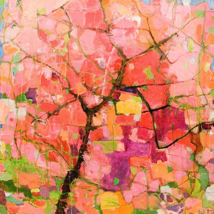 Taiwan Cherry Tree, painting by Su-Li Hung