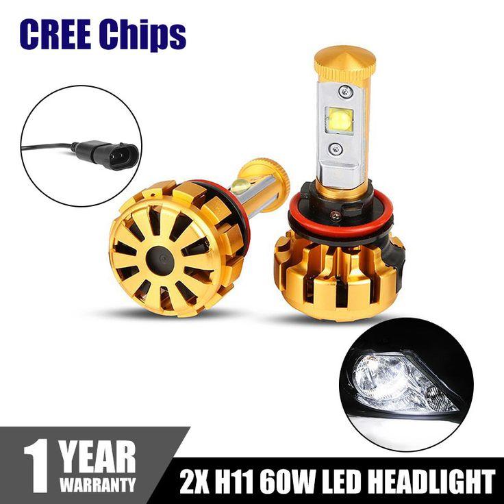 $53.59 (Buy here: https://alitems.com/g/1e8d114494ebda23ff8b16525dc3e8/?i=5&ulp=https%3A%2F%2Fwww.aliexpress.com%2Fitem%2F2x-Plug-Gold-H11-60W-6000LM-6000K-CREE-LED-Headlight-White-Bulb-Replacement-DRL-Daytime-Driving%2F32675025643.html ) 2x 60W H11 LED Headlight Bulbs CREE Chips 6000LM 6000K Car Headlights Head Lamp DRL Daytime Driving Fog Light IP68 Turbo Fan for just $53.59