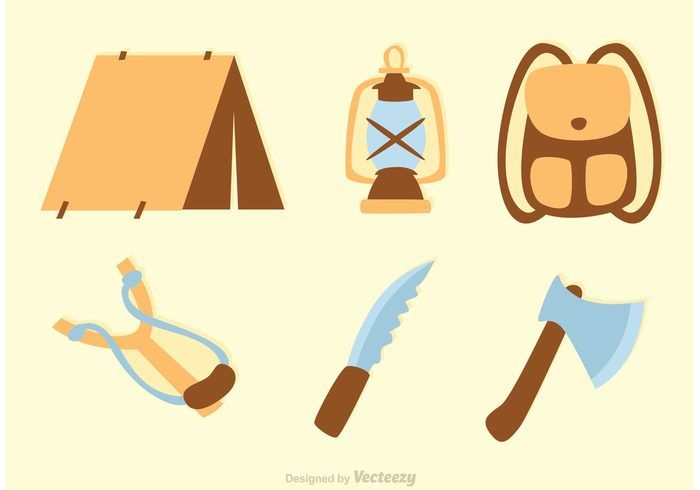Free vector Camp Icons Vectors #21353