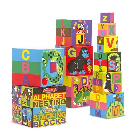 Melissa & Doug English Alphabet Nesting and Stacking Blocks