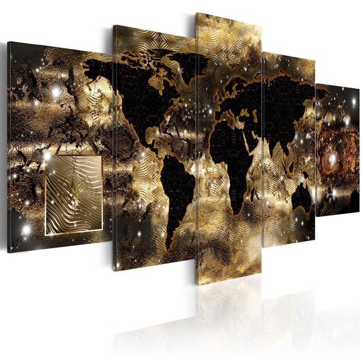 73 best Quadri su tela - Mappamondo images on Pinterest - glasbilder für badezimmer