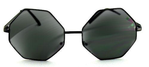 Autumn Octagon Sunglasses - 498 Black