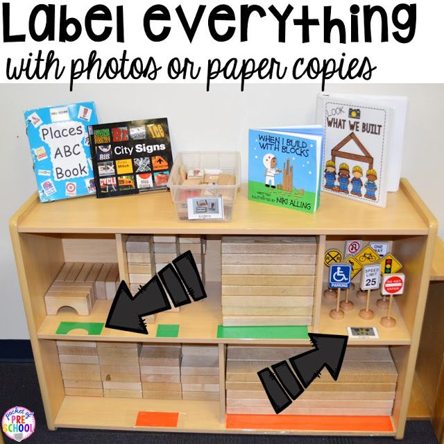 Classroom Block Design ~ Best ideas about preschool center labels on pinterest