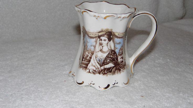 Victoria Regina Commemorative Mug St George Bone China England