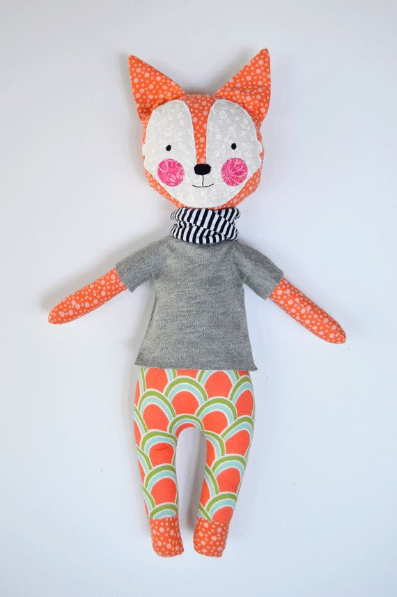 Hey, I found this really awesome Etsy listing at https://www.etsy.com/listing/217903561/fox-rag-doll-foxy-rosey-rag-doll-modern
