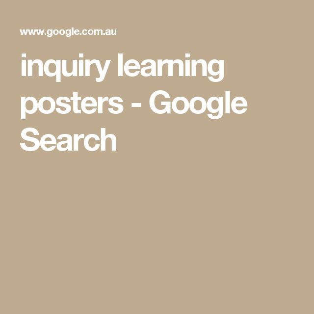 inquiry learning posters - Google Search