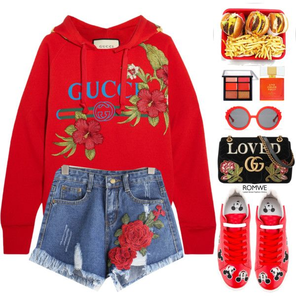 A fashion look from May 2017 featuring Gucci hoodies, MOA Master of Arts sneakers and Gucci handbags. Browse and shop related looks.