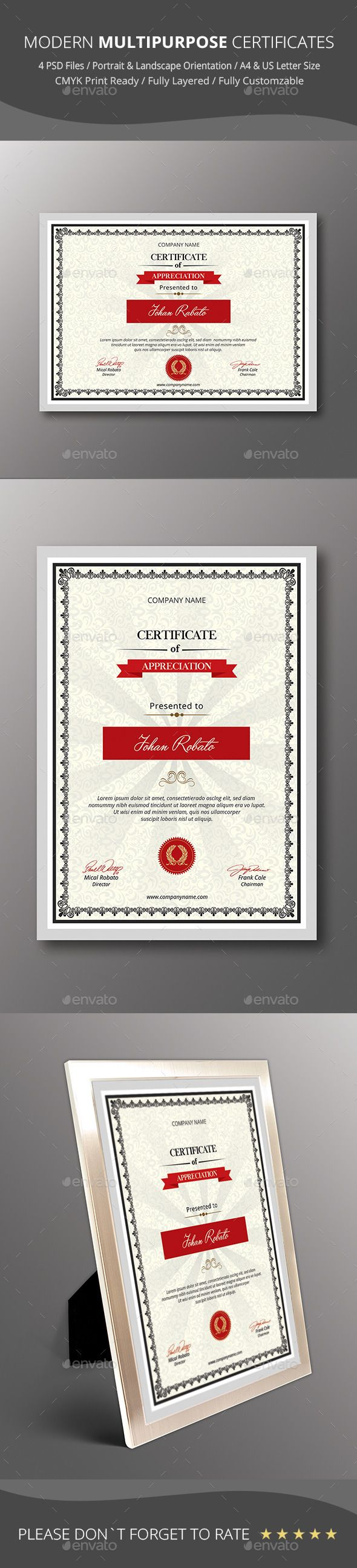 31 best psd templates certificate design images on pinterest psd modern multipurpose certificates certificatetemplate download httpgraphicriveritem yadclub Choice Image