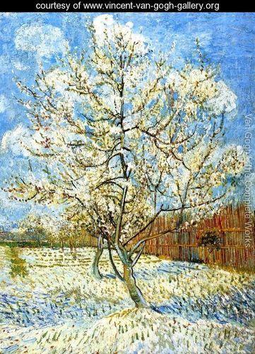 Peach Tree In Blossom - Vincent Van Gogh - www.vincent-van-gogh-gallery.org