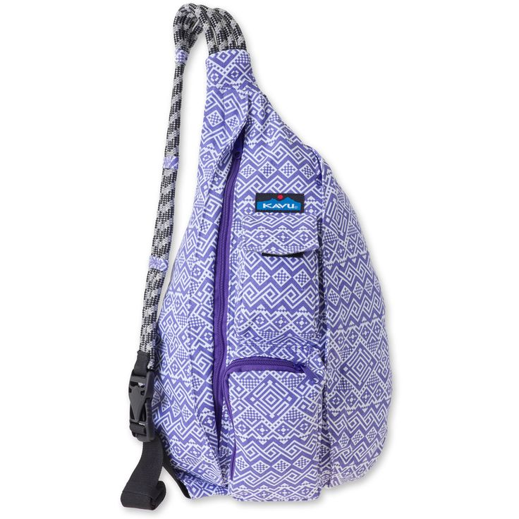 KAVU Rope Bag (Purple Quilt) Out of stock until March 2, but that's okay :)