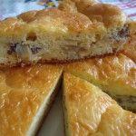 #Заливной_пирог с начинкой из рыбных консервов