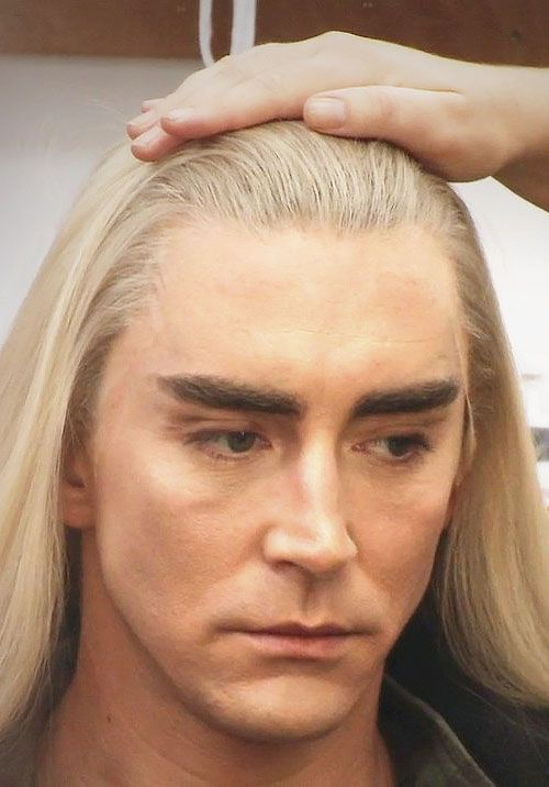 Lee Pace as Thranduil | It is strange that this picture makes me wonder how much the lace front cost?