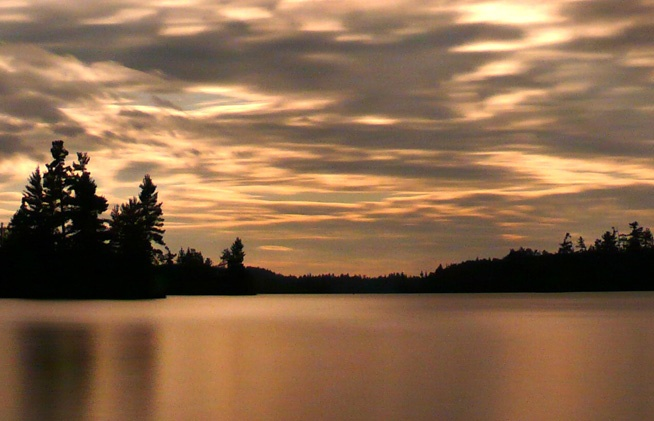 the peaceful beauty of a northern ontario lake...