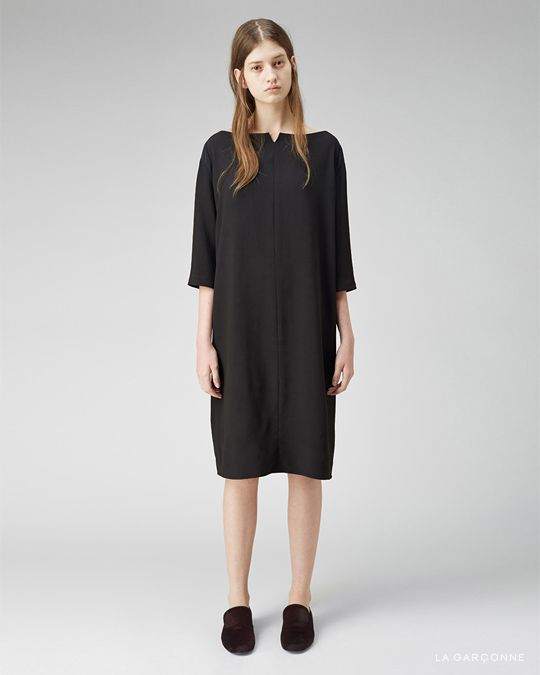 The Row / Mona Dress Marc Jacobs / Pony SlipperModest Dresses, Wear Black, La Garconne, The Row, Marc Jacobs, Ponies Slippers, Dresses Marc, Mona Dresses