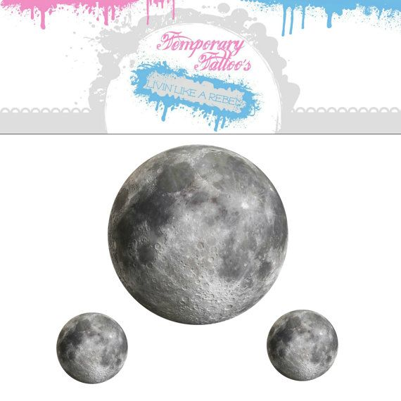 Celestial Temporary Tattoos - Space Illustration - Moon Tattoo, Sta ...