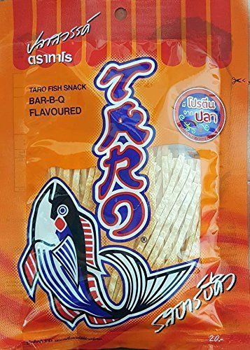 3 X 30 gm SNACK TARO FISH THAI DRY FOOD BBQ FLAVOURED SEASONING TASTY HALAL SNACKS THAI *** Visit the image link more details.
