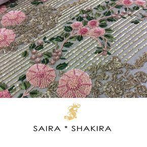 """""""Sneak a peek of #SairaShakira Bridals!! #Workmode #WorkinProgress…"""