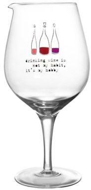 """Drinking Wine is My Hobby"" Wine Carafe"