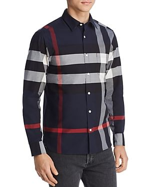 9f6ff5ed4 BURBERRY WINDSOR CHECK-PATTERN CLASSIC FIT SHIRT. #burberry #cloth ...
