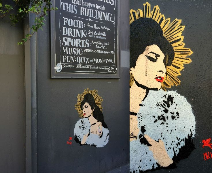 Remembering the late Amy Winehouse in London street art.