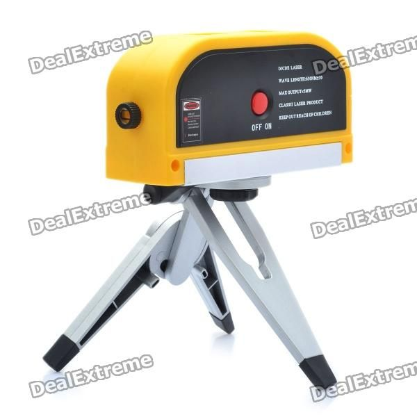 Model: LV08 - Color: Yellow + black - Plastic material housing - Laser wavelength: 630~680nm - Accuracy: +/- 0.015mm - Functions/Modes: Laser Pointer, Vertical Line, Cross Line - Built-in two fluid levelers - Powered by 3 x AG13 batteries (included) - Comes with tripod http://j.mp/1vnUrKa