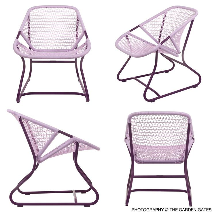 {Fermob Sixties Armchair} funky outdoor chairs; comes in oodles of colours!  I absolutely need these for my patio!!