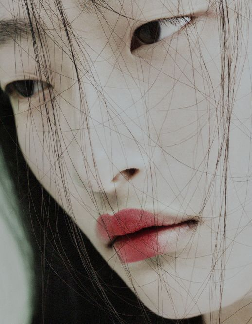 asiatic beautiful face portrait woman seen by AnnCT