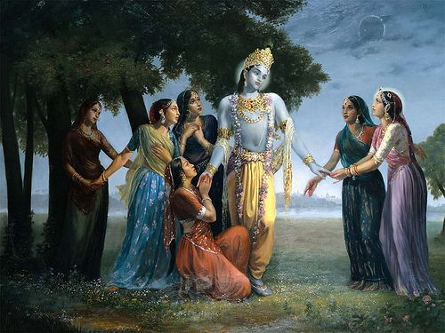 Krishna leaving Vrindavan to Mathura