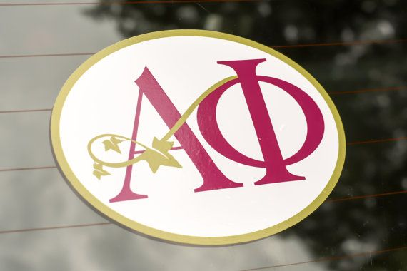 Alpha Phi Sticker for Car or Laptop. Classic by SororityShell