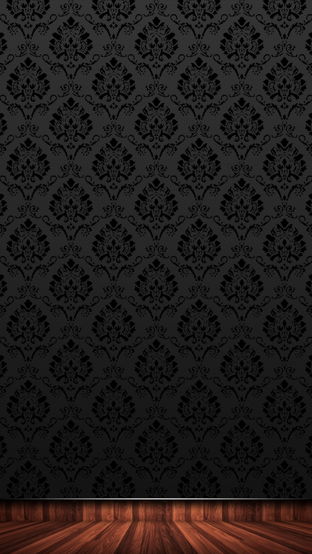 nice 高級感のある黒のiPhone5 スマホ用壁紙