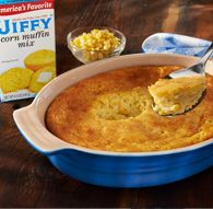 Spoon Bread Casserole (AKA: Corn Casserole) from our beloved Chelsea, MI institution Jiffy Mix @ www.jiffymix.com