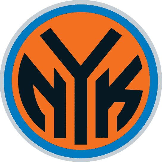 This New York Knicks logo is based on the old NYC subway tokens, which makes it even cooler.