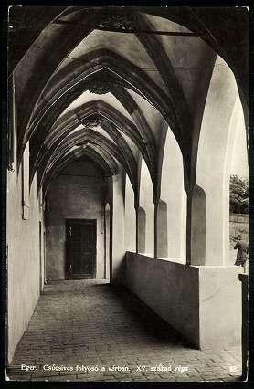 1935. Eger, Vár - Csúcsíves folyosó. XV. század vége | Képcsarnok | Hungaricana