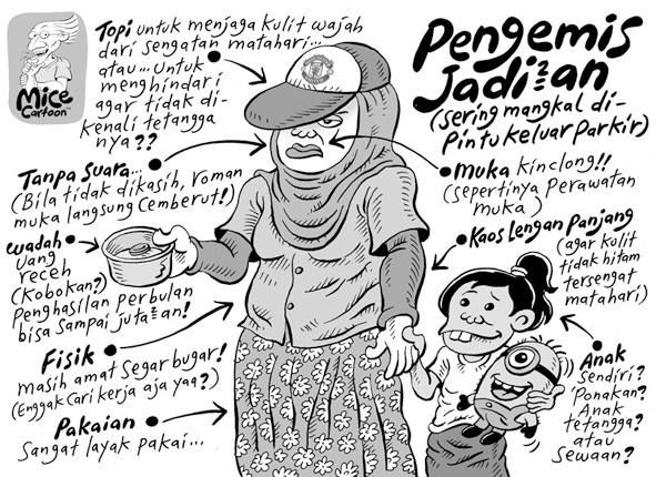 Mice Cartoon, Kompas, 22 September 2013: Pengemis