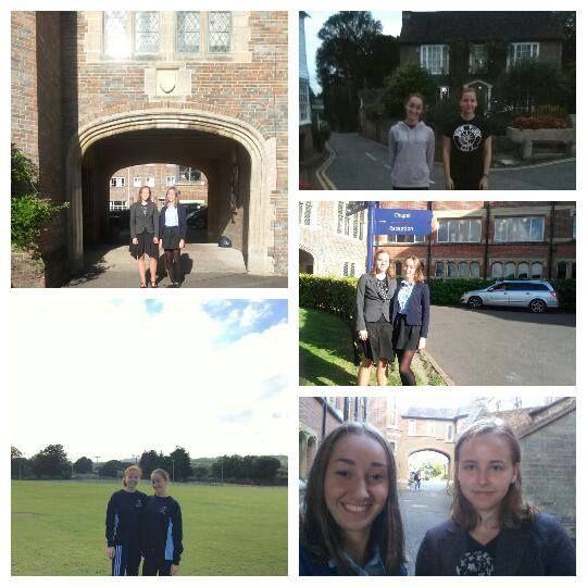 Martyna i Ida - pierwszy tydzień w Mayfield School for Girls:)