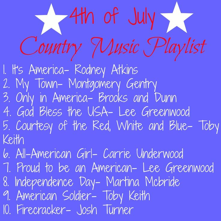 4th of July Country Music Playlist