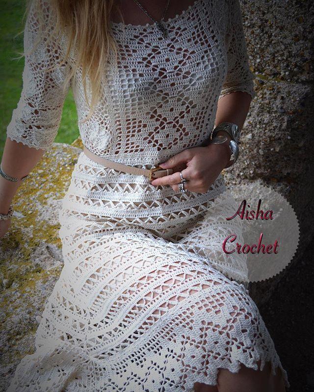 Платье в винтажном стиле #aishacrochet #handmade #handcrochet #vintagestyle…