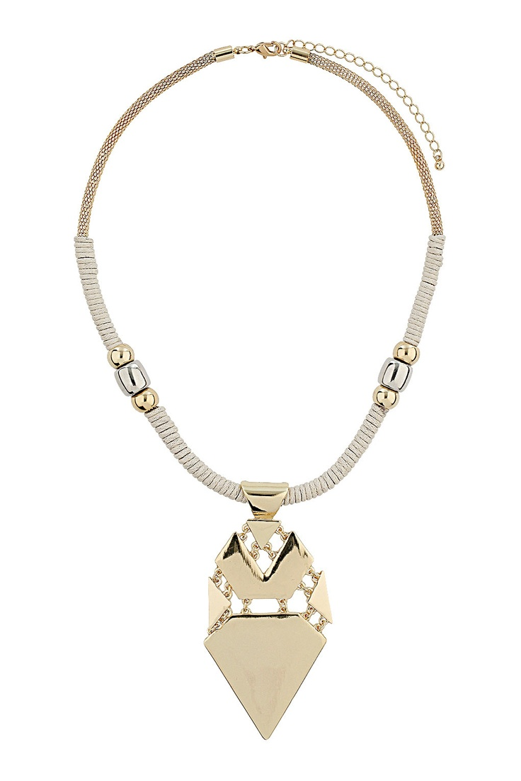 Thread Triangle Drop Collar - Necklaces - Jewellery - Bags & Accessories - Topshop