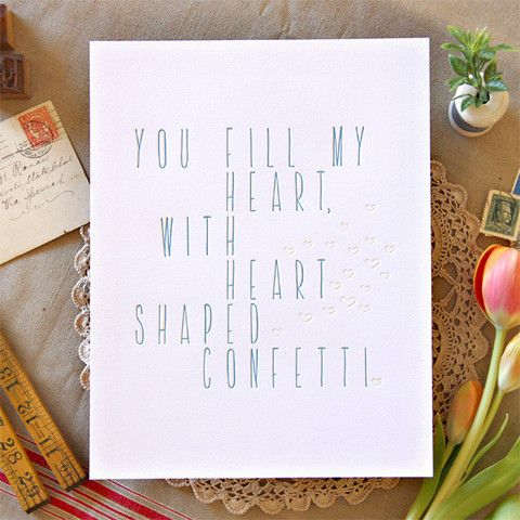 Can't Write It Down Yourself? Say It With This SUPER CUTE Print!   You Fill My Heart Print