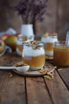 Apfelmus mit Zimtcreme und Karamell-Mandeln   Das Knusperstübchen   Bloglovin'