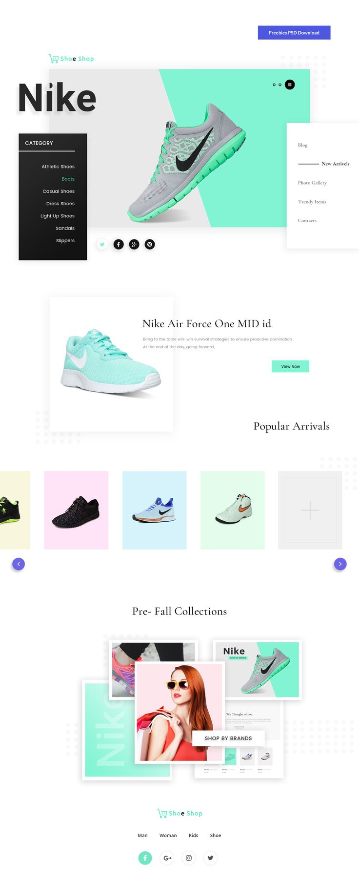 Ecommerce Web Template Free PSD