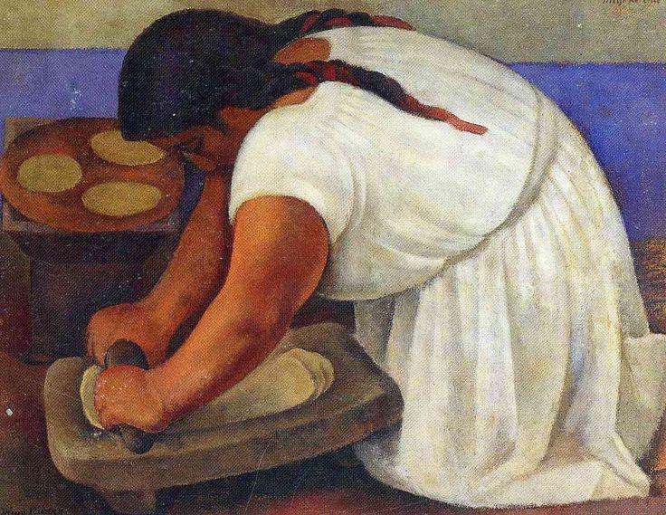 Artist: Diego Rivera    Completion Date: 1924    Style: Art Deco    Genre: portrait    Dimensions: 106.7 x 121.9 cm    Gallery: Museo Nacional de Arte, MUNAL INBA, Mexico City, Mexico