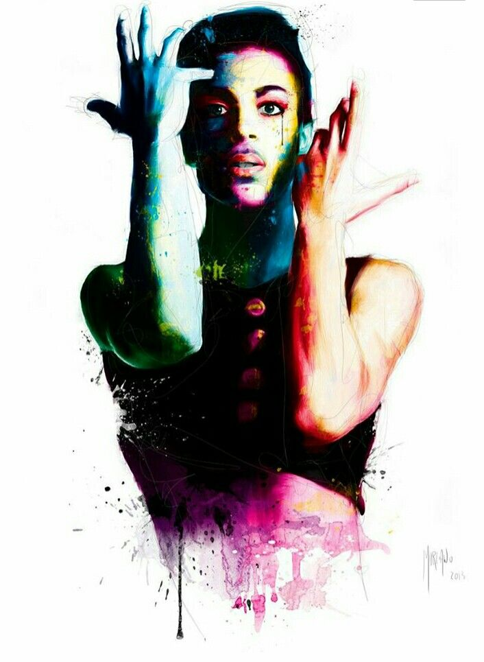 Watercolour tattoo,Prince.